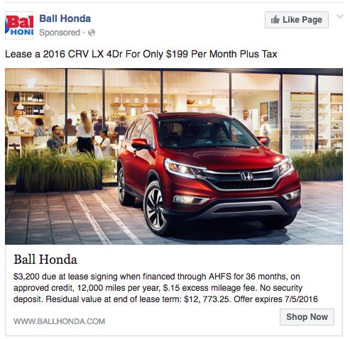great facebook ad copywriting