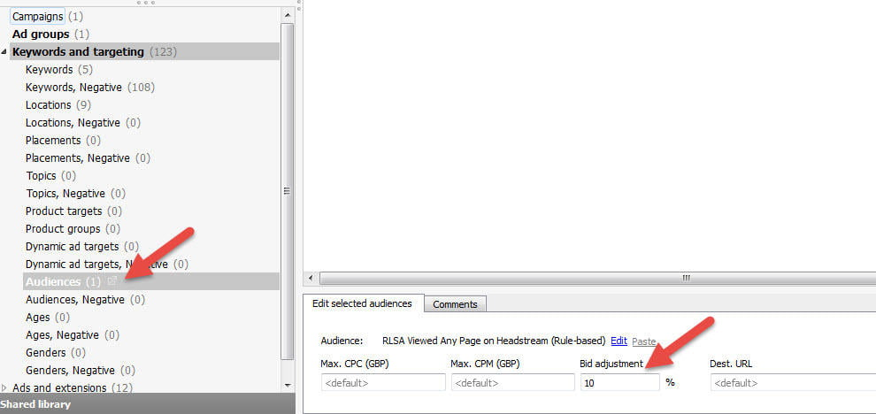 adwords bid adjustments rlsa