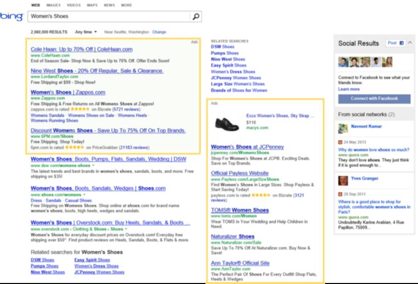 Bing Ads ad position