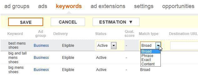 Bing Ads keyword tools