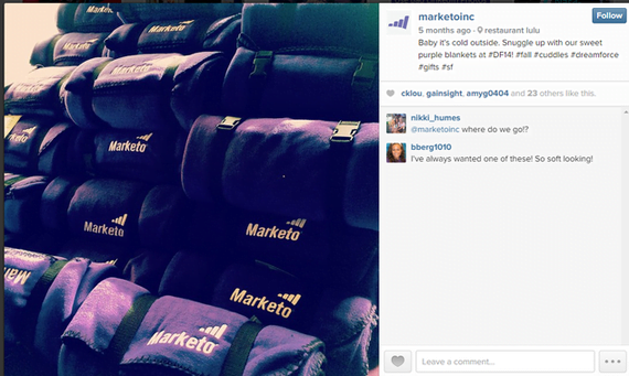 Brand marketing Marketo Instagram post