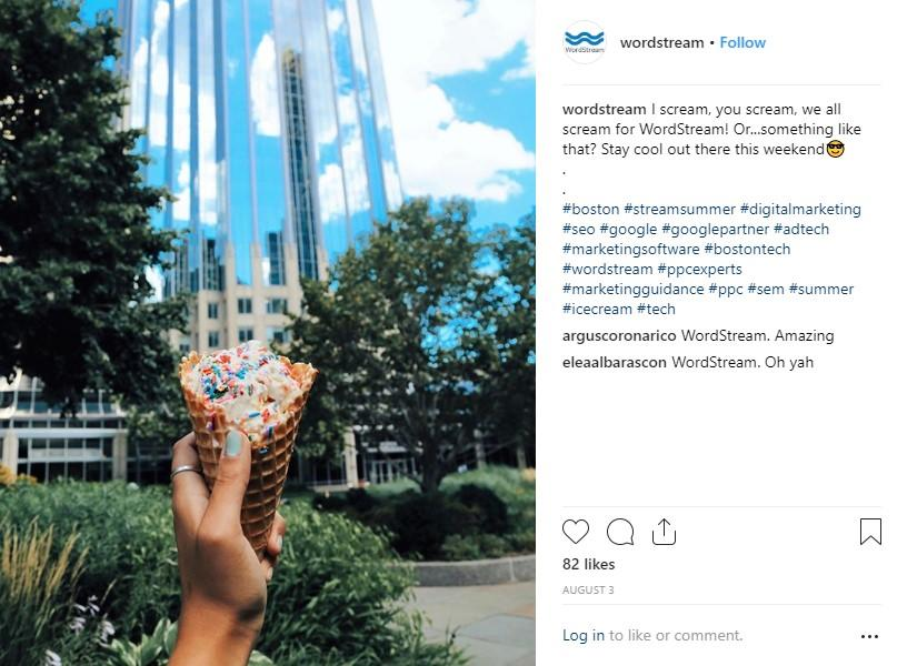 brand story wordstream instagram