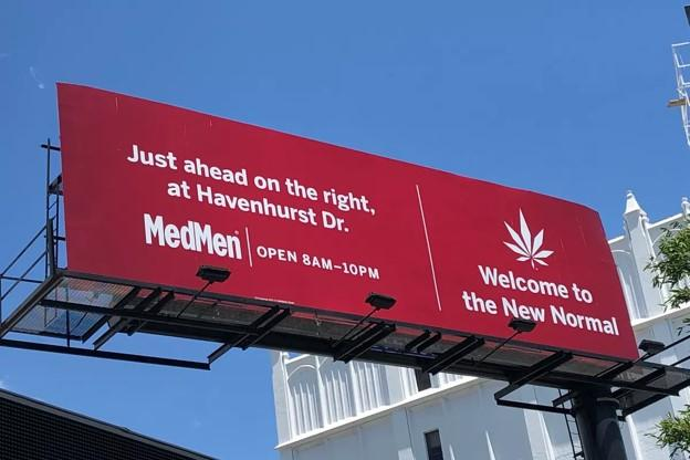 cannabis marketing billboard