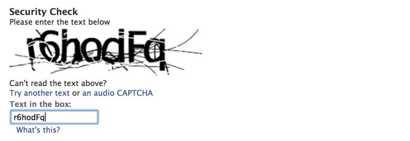 captcha on ppc landing page inhibit UX