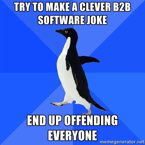 Comedy in content meme paranoid penguin meme
