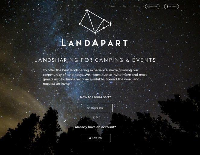 coming soon landing page LandApart example