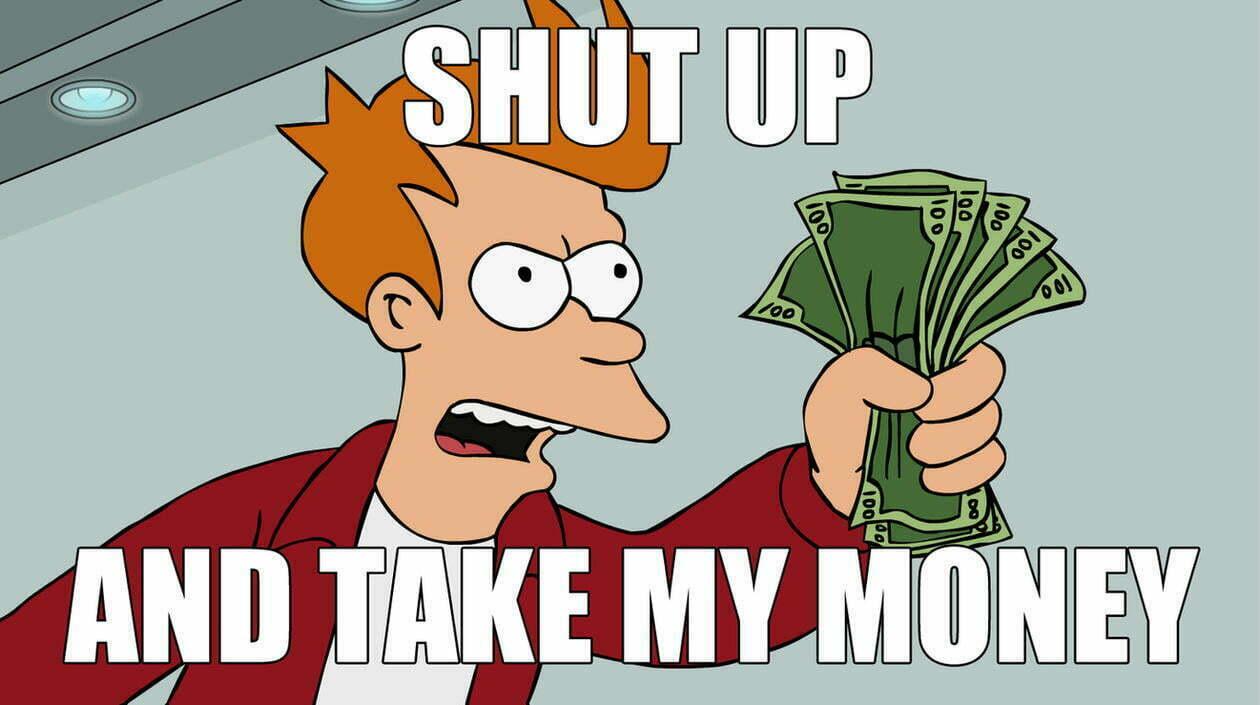 Commercial intent keywords Futurama meme