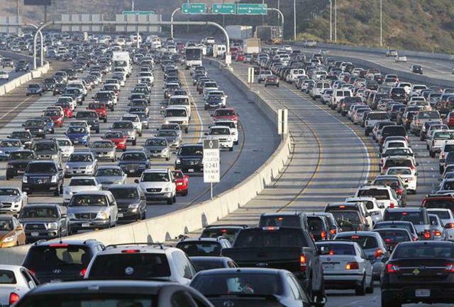 Commercial intent keywords Los Angeles freeway gridlock
