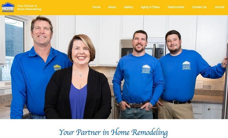 employees on construction marketing website