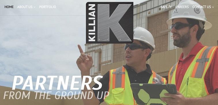 construction marketing website example
