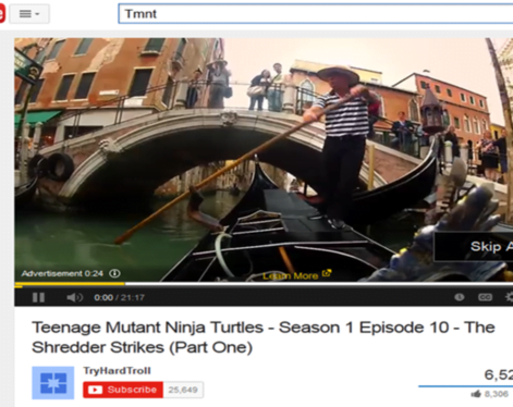 Content remarketing TrueView ad screenshot