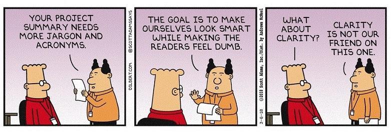 copywriting tips summarize in a sentence comic