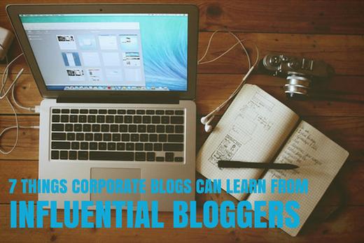 Corporate blogs header