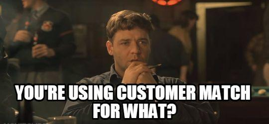 customer match game theory