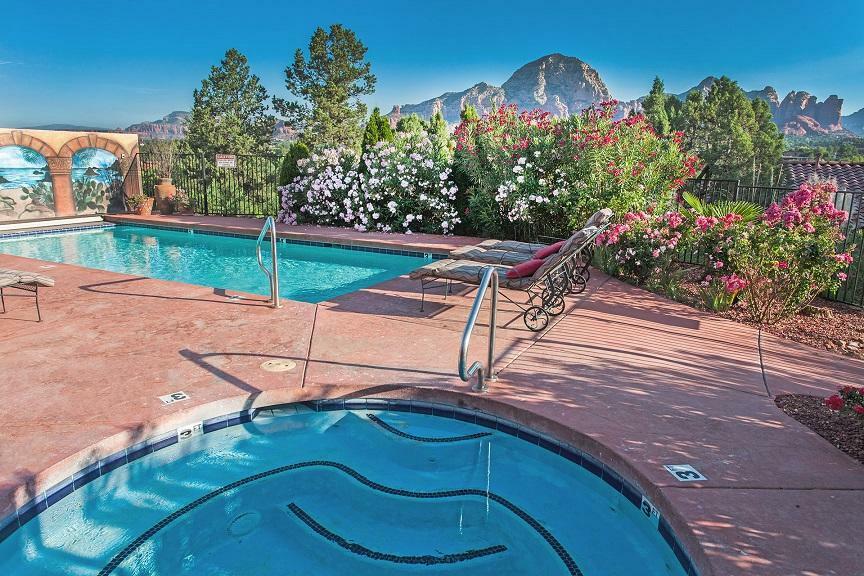 A Sunset Chateau's pool