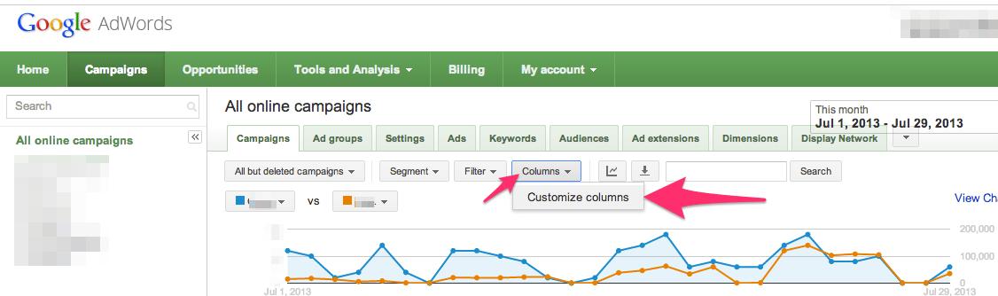 activate analytics in adwords