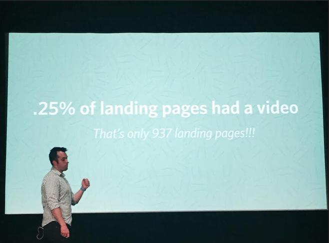 Digital marketing stat shot of Savage presenting the stat