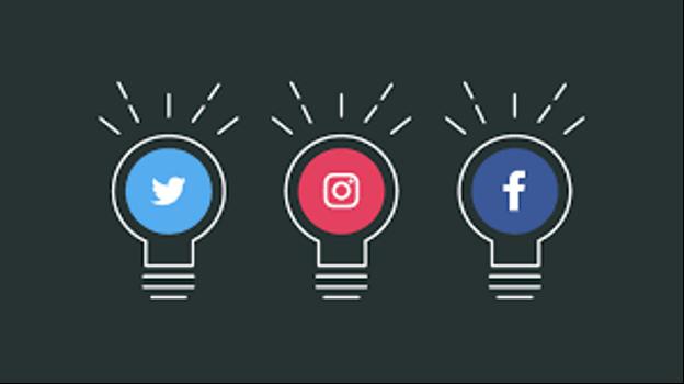 twitter, instagram, facebook logos