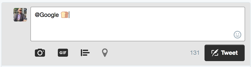 emoji tweet screenshot