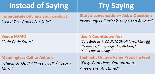 eta copywriting tips for luxury marketing