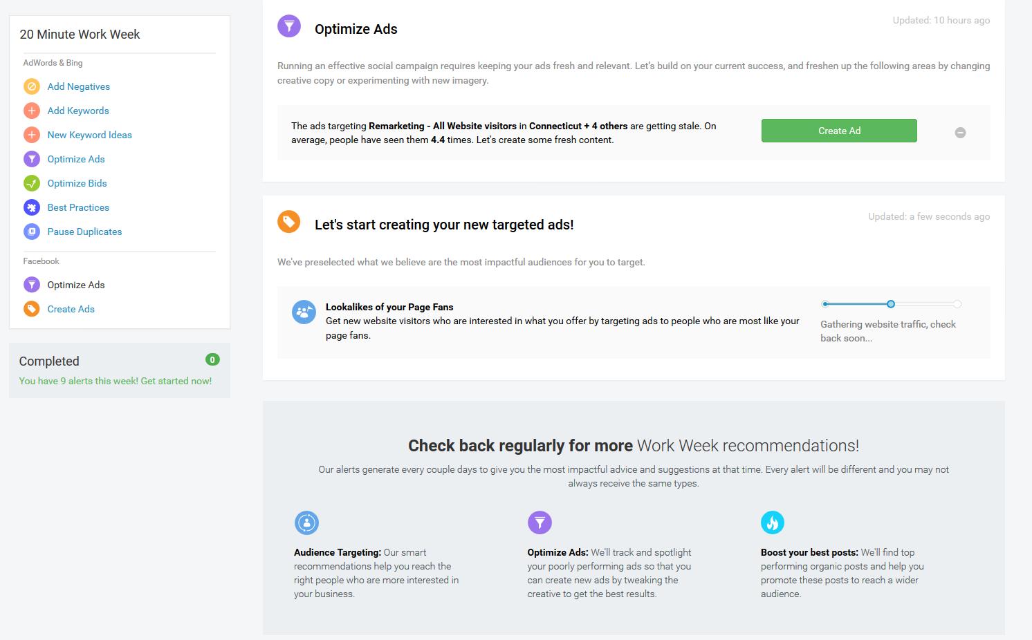 Facebook ad tools WordStream Social Ads