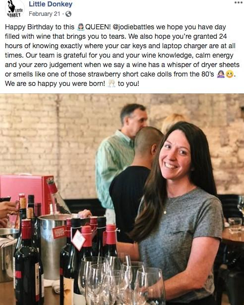 Facebook ad with restaurant staff