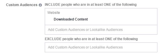 Facebook conversion tracking nurture funnel custom audience