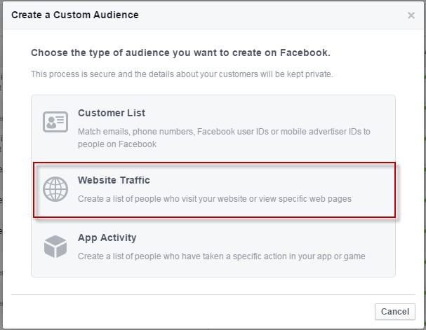Facebook conversions create audience