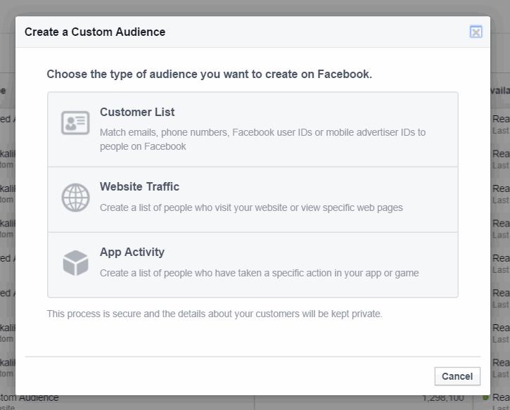 facebook custom audiences gdpr