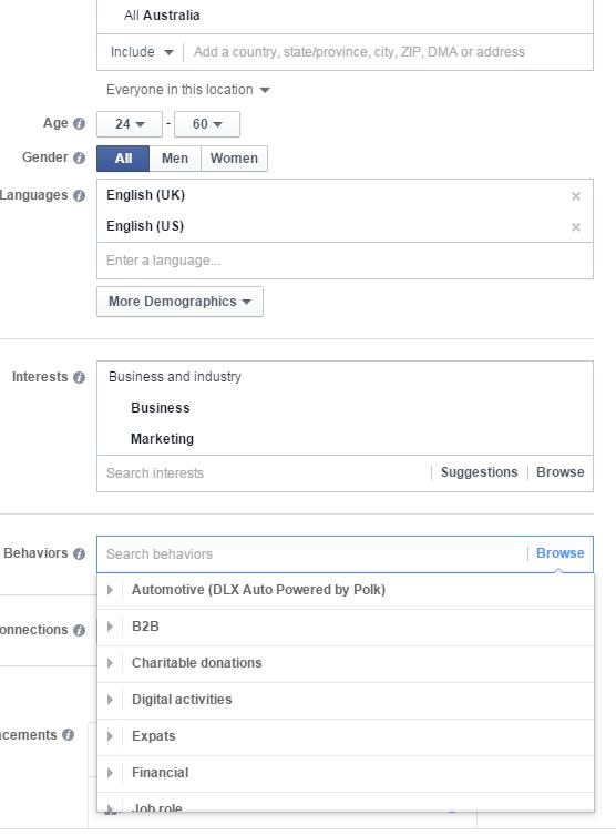 Facebook for lead gen ad targeting