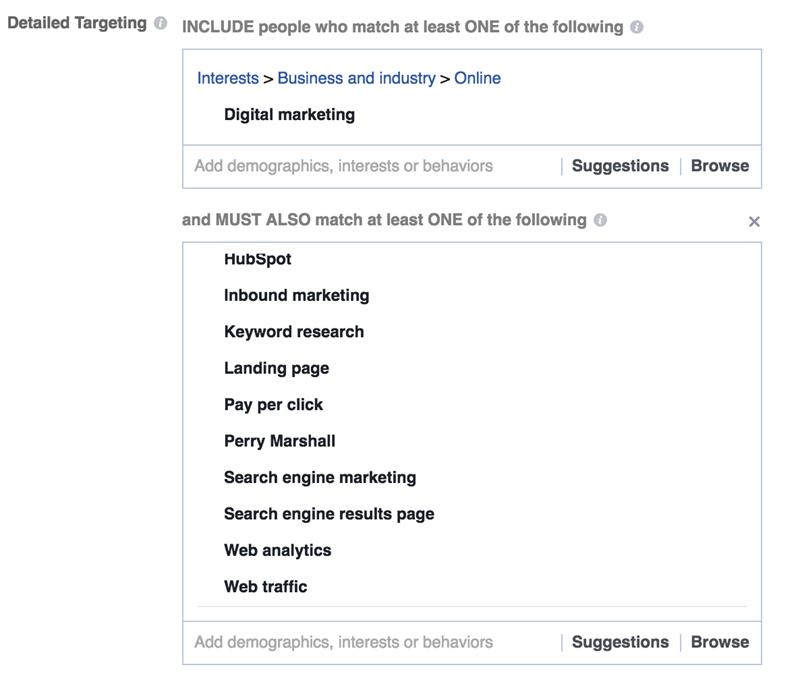 facebook interest targeting digital marketing