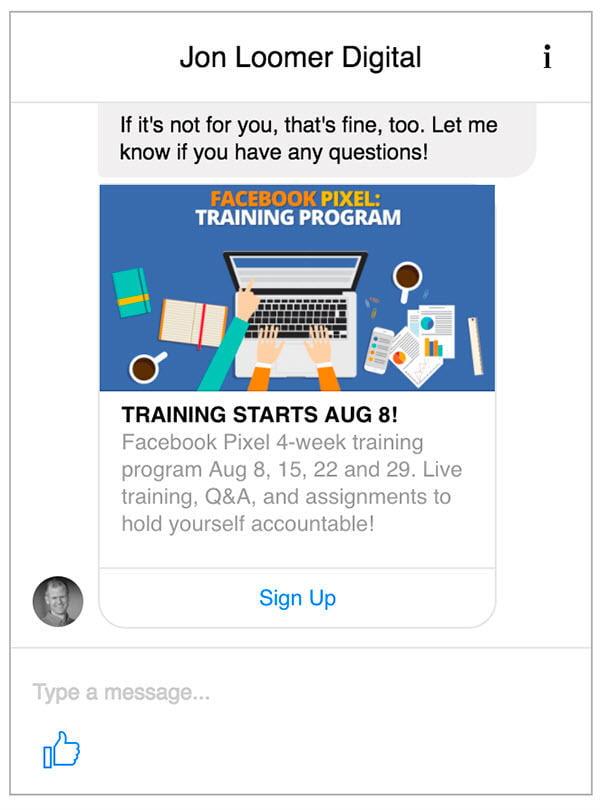 facebook messenger ad chat bots