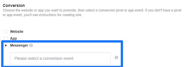 facebook messenger ads conversion tracking