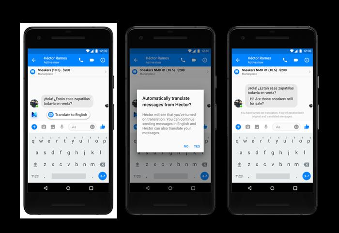 facebook messenger translation functionality