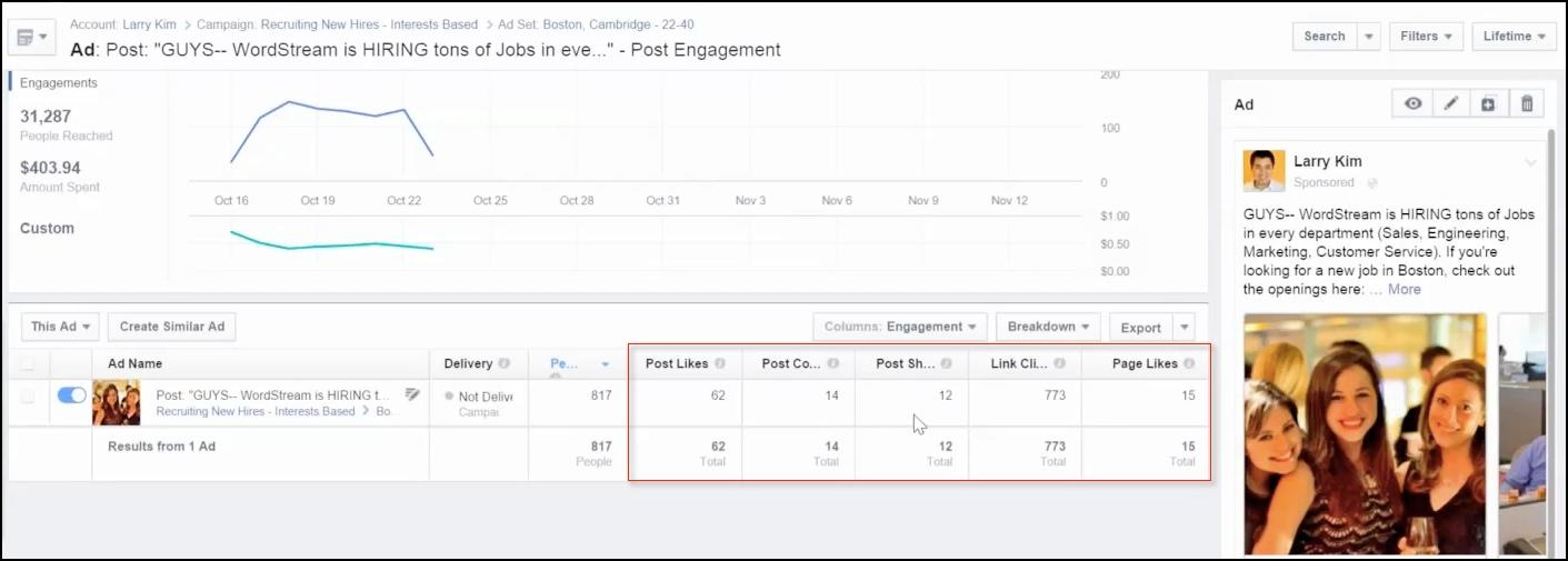 facebook recruiting metrics