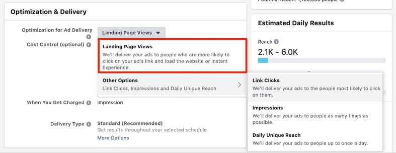 Facebook sales funnel conversion events