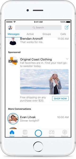 facebook ad sponsored messages