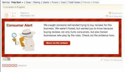 Fake Yelp Reviews