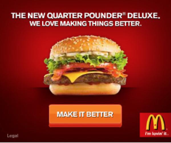 Food and restaurant advertising tips McDonald's quarter pounder Make It Better ad