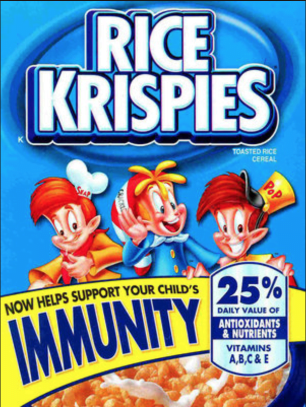 Food and restaurant advertising tips Rice Krispies misleading immunity claim