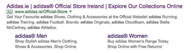 Google Ads links based on location