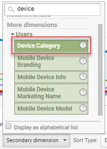 segment by device google analytics