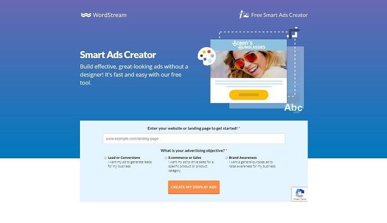 WordStream's Smart Ads Creator tool