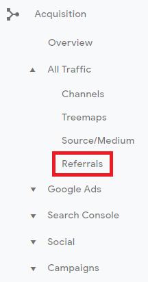 google-display-ads-analytics-left-navigation-menu