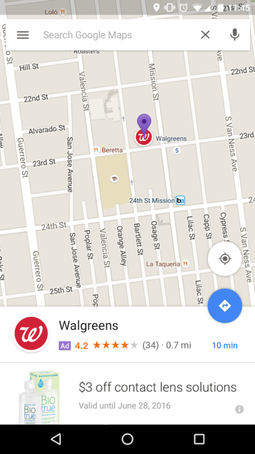google maps promotion pins