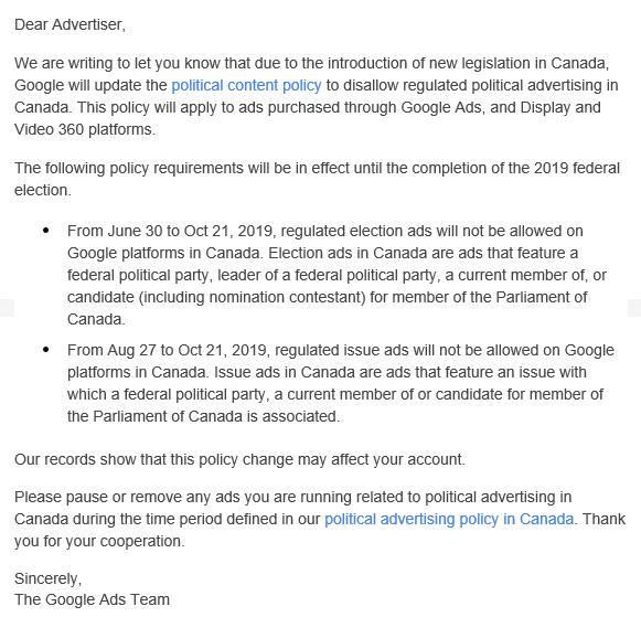 google-sunsets-bid-strategies-advertiser-email