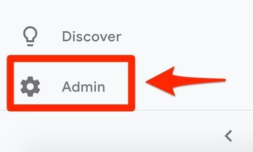 go to Google Analytics Admin