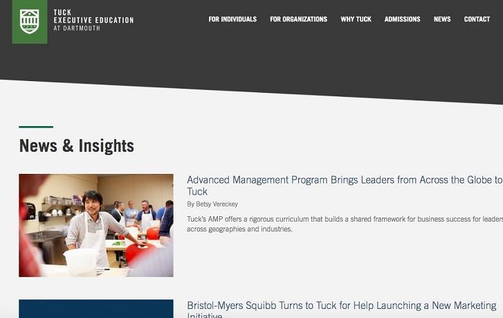 higher education marketing blog example