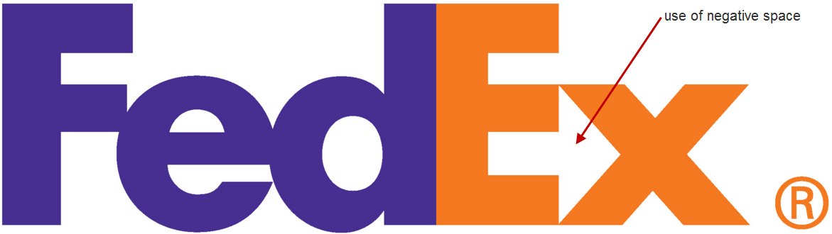 How to create Facebook ads negative space FedEx logo