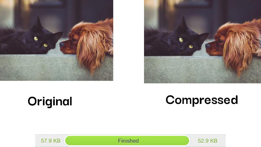 improve core web vitals—original vs compressed image